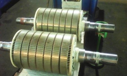 electric motor with short circuit rotor