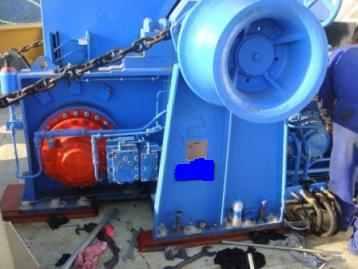 Troubleshooting of anchor windlass winch