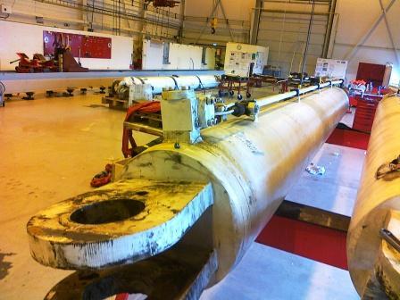 Ship Crane Hydraulic Cylinder Repair